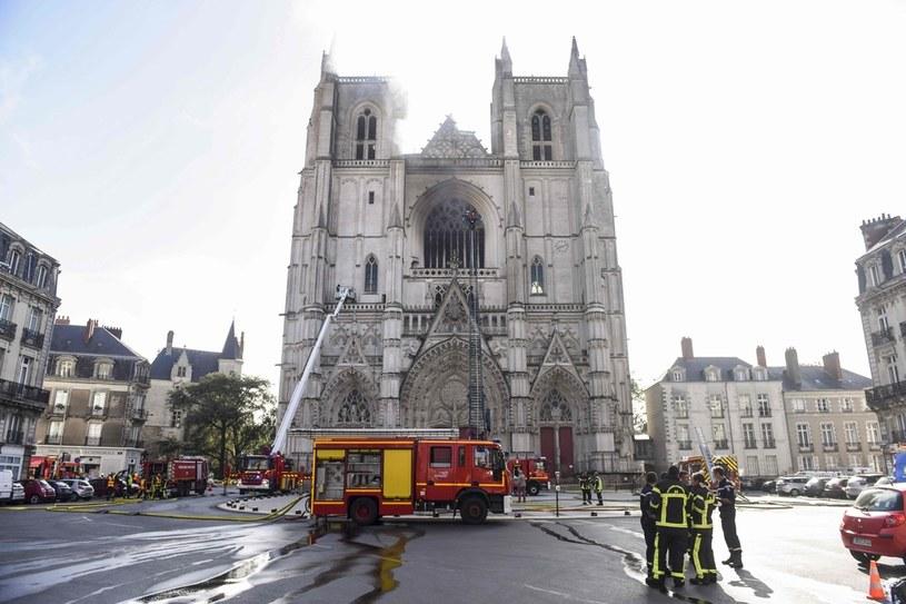 Pożar zabytkowej Katedry św. Piotra i Pawła w Nantes /Sebastien SALOM-GOMIS / AFP /AFP