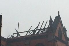 Pożar zabytkowej katedry w Sosnowcu