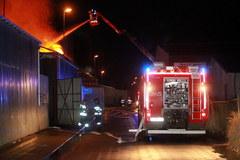 Pożar zakładu przemysłowego przy ulicy Lnianej w Koszalinie