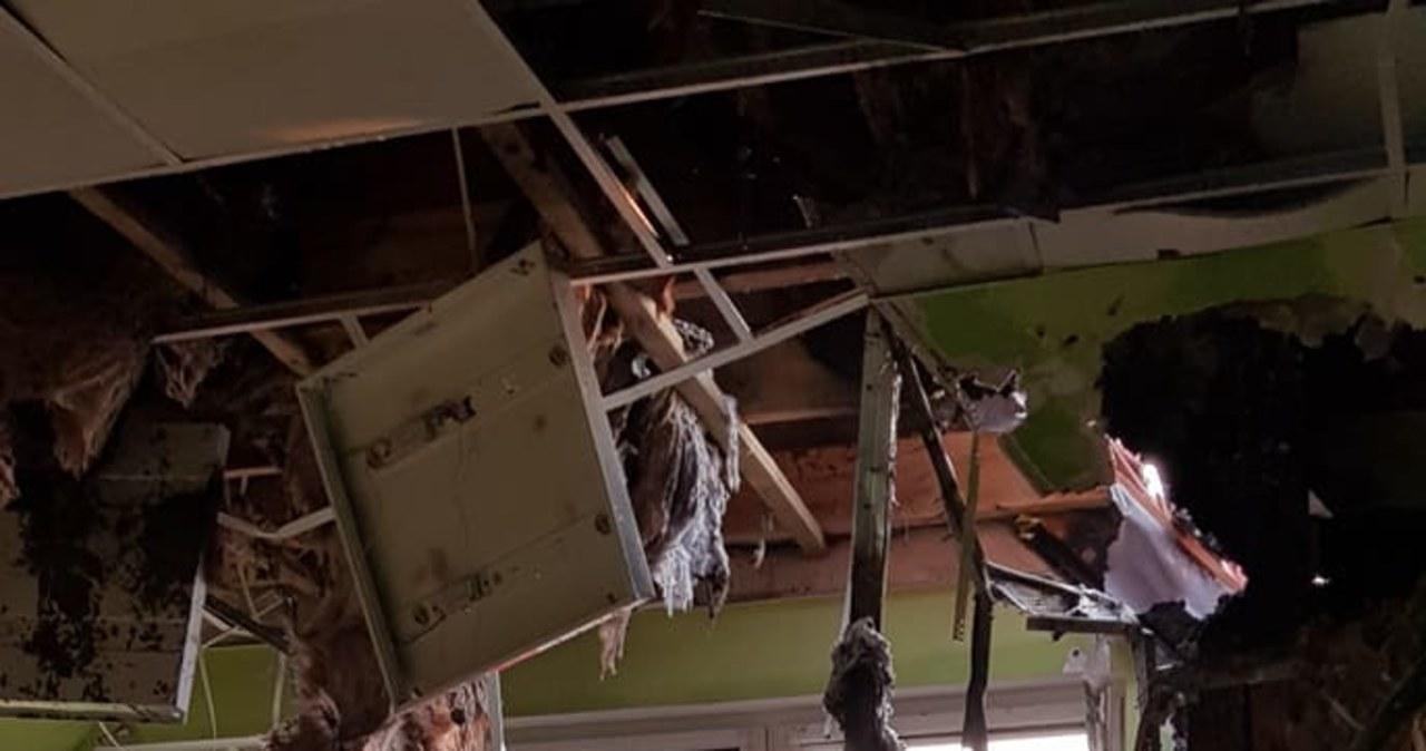 Pożar zniszczył szkołę dla niepełnosprawnych dzieci