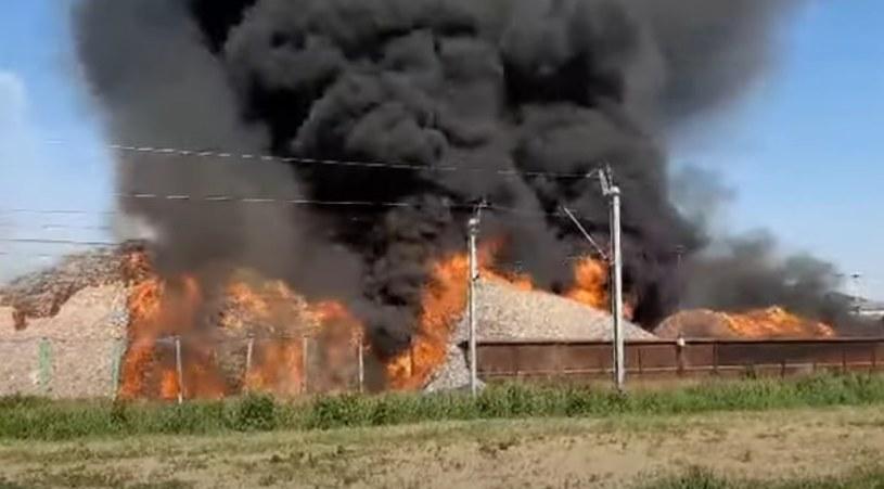 Pożar; źródło: YouTube/Radio Elka /