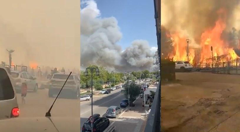 Pożary w mieście Pescara /Twitter / @ViperaStefy/@Maxwenn_rbt/@Fabiomassimo180 /Twitter /INTERIA.PL