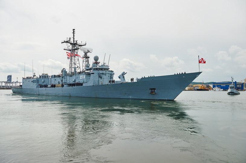 Pożegnanie fregaty rakietowej ORP Gen. Tadeusz Kościuszko /Adam Warżawa /PAP
