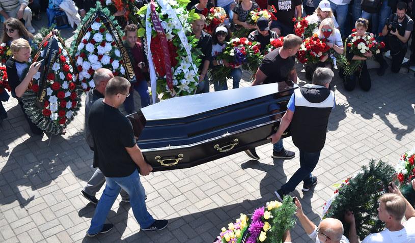 Pożegnanie tragicznie zmarłego 34-latka /AFP