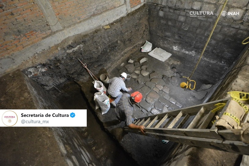Pozostałości azteckiego pałacu w stolicy Meksyku /Twitter /