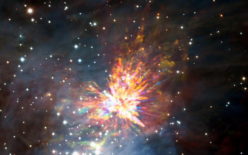 Pozostałości kosmicznej eksplozji w Obłoku Molekularnym Oriona 1 /materiały prasowe