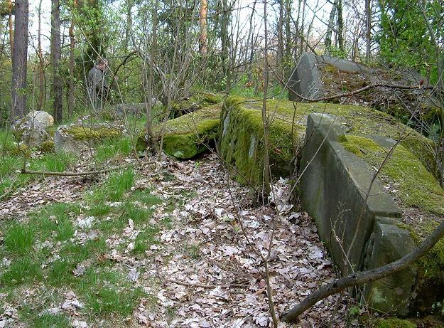 Pozostałości po stojącym na Buchholzu pomniku feldmarszałka Gebharda von Blüchera /Odkrywca