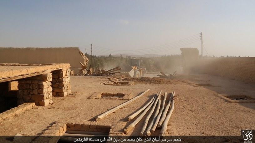 Pozostałości po zabytkowym klasztorze /WELAYAT DIMASHQ /AFP