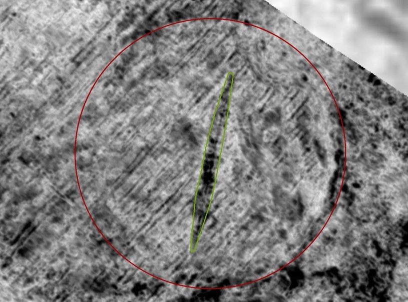 Pozostałości zakopanego statku wikingów /Fot. Manuel Gabler, NIKU /materiały prasowe