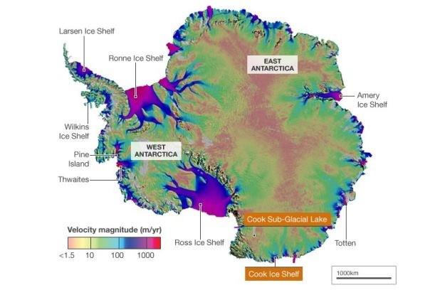 Pozycja CSGL na Antarktydzie /Kosmonauta