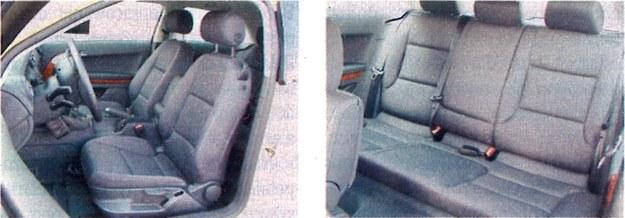 Pozycja kierowcy w A3 jest niższa, bardziej sportowa niż w Alfie. Z kolei pasażerowie tylnej kanapy mają dla siebie stosunkowo dużo miejsca. /Motor