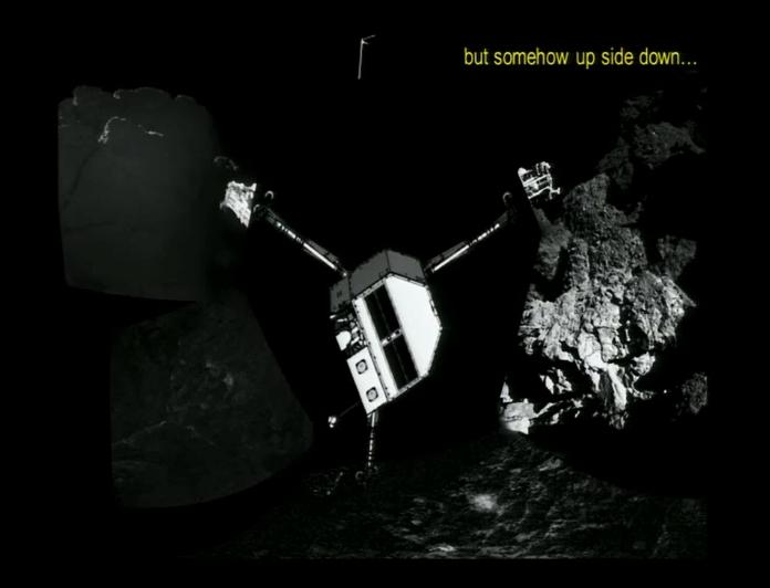 Pozycja Philae wnioskowana na podstawie zdjęć z CIVA - AGU 2014 /materiały prasowe