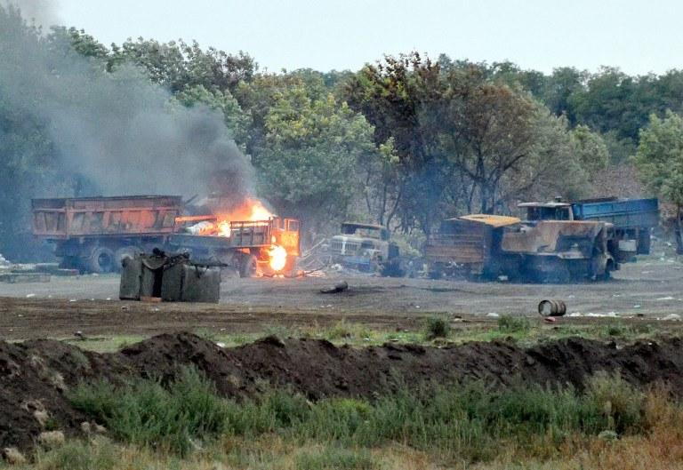Pozycje Ukraińców są ostrzeliwane przede wszystkim w obwodzie donieckim /AFP