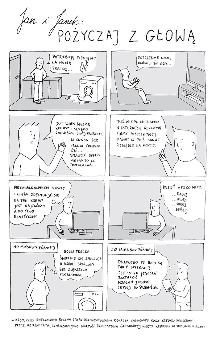 Pożyczaj z głową - komiks /INTERIA.PL