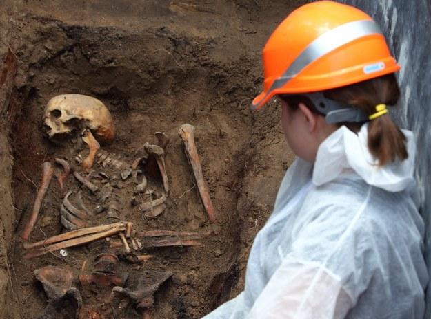 Prace ekshumacyjne ofiar zbrodni komunizmu na Służewie /Stanisław Kowalczuk /East News