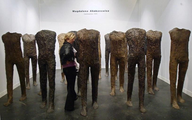 Prace Magdaleny Abakanowicz są na całym świecie /AFP