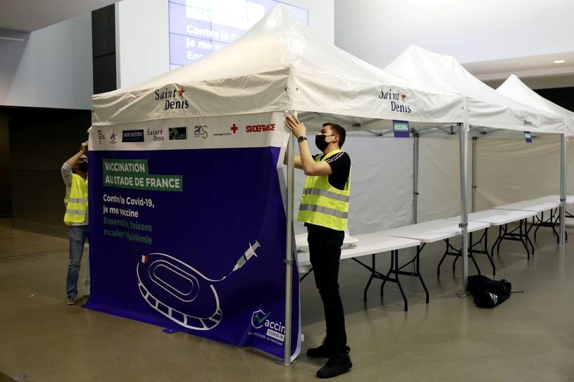 Prace na Stade de France już trwają /PAP/EPA