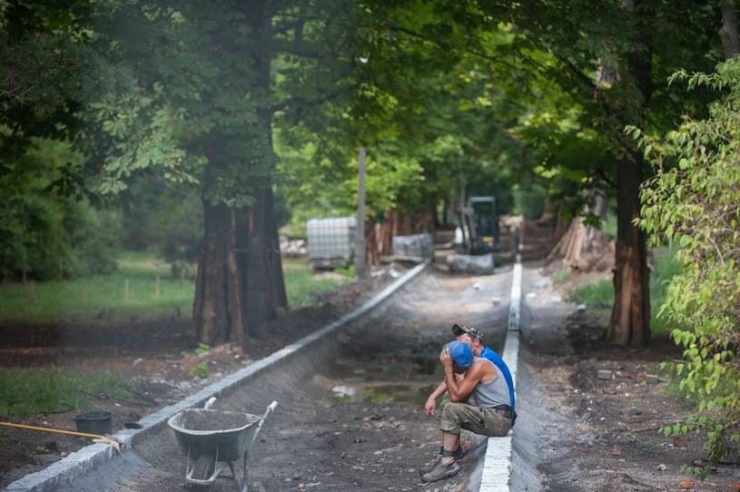 Prace w bydgoskim parku zostały wstrzymane /Kamil Kiedrowski /Reporter