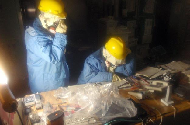 Pracownicy elektrowni Fukushima /AFP