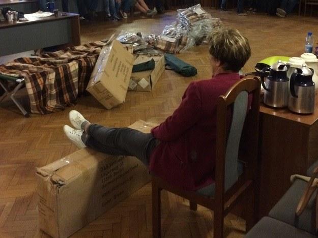 Pracownicy Teatru Dzieci Zagłębia w Będzinie okupowali starostwo powiatowe /Marcin Buczek /RMF FM