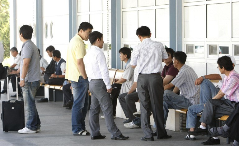 Pracownicy z Korei Południowej w strefie Kaesong /AFP