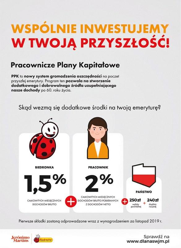 Pracownicze Plany Kapitałowe w Biedronce, źródło: Biedronka /INTERIA.PL