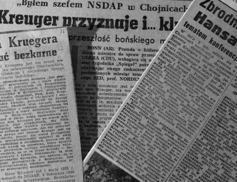 Prasa krajowa i zagraniczna szeroko komentowała przeszłość Kruegera. Fot. Tadeusz Galec, Archiwum historiachojnic. com /