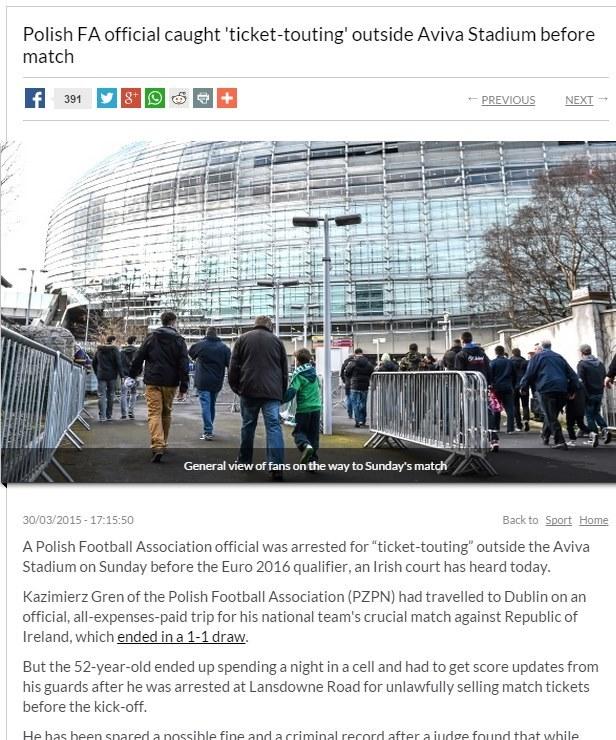 Prasa z Dublina donosiła o skandalicznym procederze Grenia jako pierwsza. /INTERIA.PL