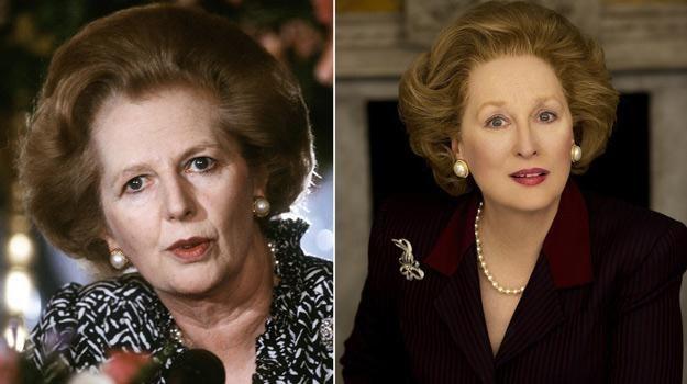 Prawdziwa Margaret Thatcher (z lewej) oraz Meryl Streep jako brytyjska premier /AFP