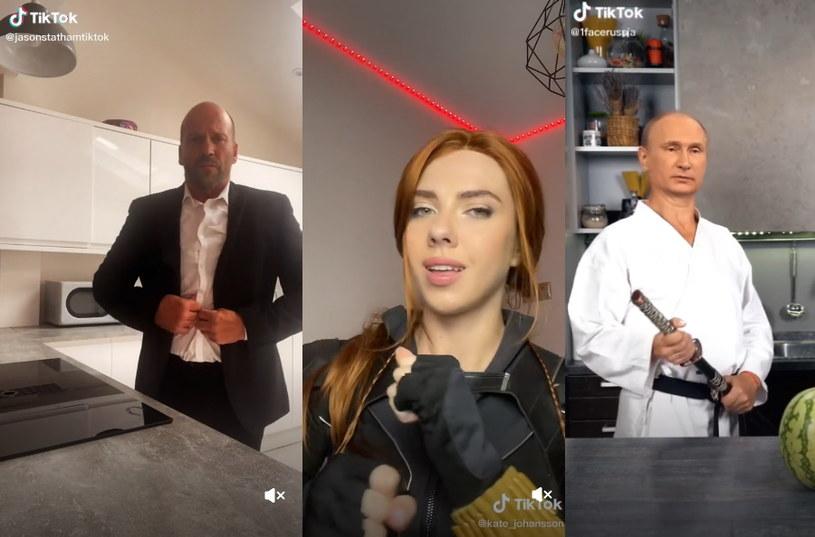 Prawdziwy Jason Statham, cosplayerka przebierająca się za Scarlett Johansson i deep fake z Władimirem Putinem - TikTok w pigułce /INTERIA.PL