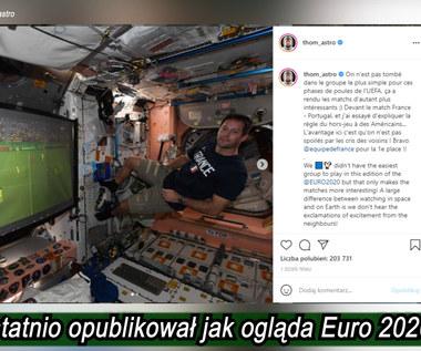 Prawdziwy kosmiczny mecz! Sprawdź jak astronauci oglądają Euro 2020! Wideo