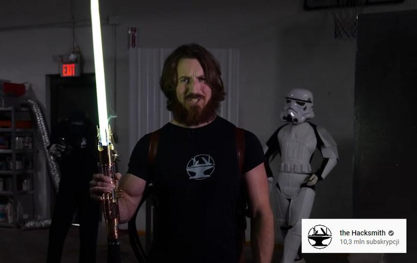 Prawdziwy miecz świetlny /YouTube