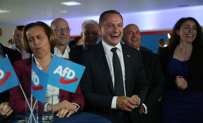 Prawicowa Alternatywa dla Niemiec po raz pierwszy wygrała regionalne wybory /MARTIN DIVISEK / POOL /PAP/EPA