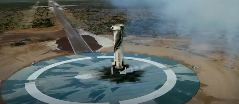 Prawidłowe lądowanie rakiety /materiały prasowe