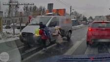 Prawie potrącił dzieci na przejściu dla pieszych. Nie miał prawa jazdy