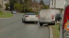 Prawie wjechał w inne auto, ale winił drugiego kierowcę