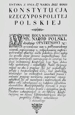 Preambuła Konstytucji z 17 marca 1921 r. /sejm.gov.pl /INTERIA.PL