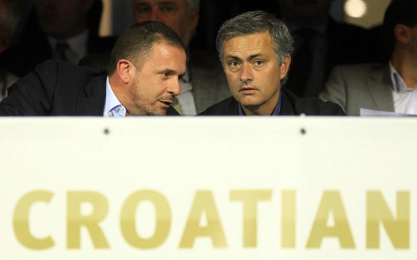 Predrag Mijatović (z lewej) i były trener Jose Mourinho /AFP