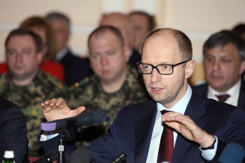 Premier Arsenij Jaceniuk. /AFP