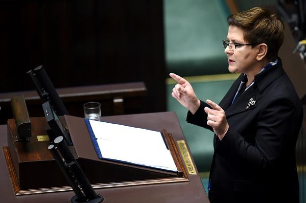 Premier Beata Szydło. Fot. Radek Pietruszka /PAP
