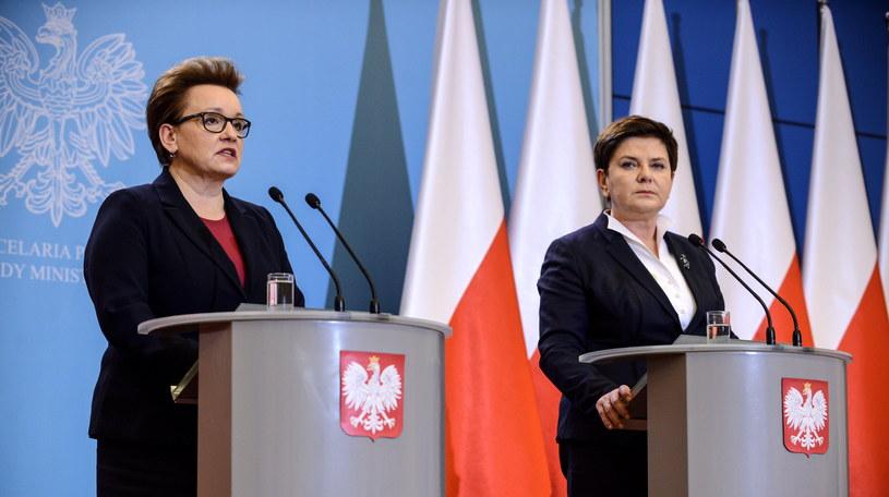 Premier Beata Szydło i minister edukacji narodowej Anna Zalewska /Jakub Kamiński   /PAP
