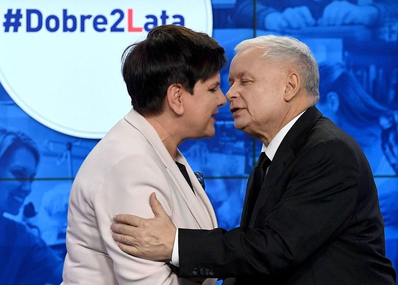 Premier Beata Szydło i prezes PiS Jarosław Kaczyński na zdjęciu z 14 listopada 2017 r. /AFP
