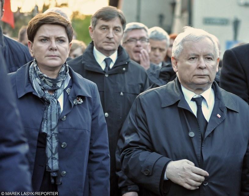 Premier Beata Szydło i prezes PiS Jarosław Kaczyński /Marek Lasyk  /East News