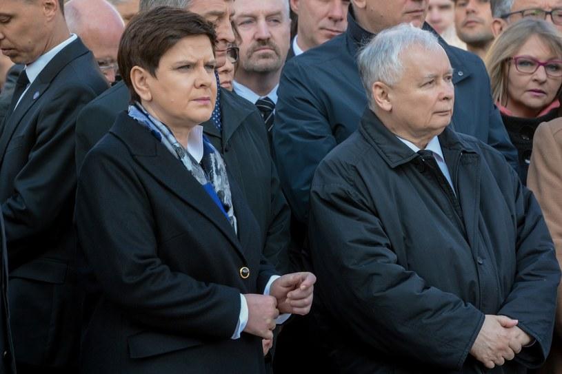 Premier Beata Szydło i prezes PiS Jarosław Kaczyński /Mariusz Gaczyński /East News