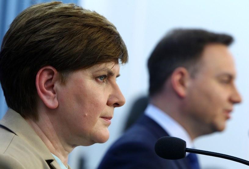 Premier Beata Szydło i prezydent Andrzej Duda /Stanisław Kowalczuk /East News