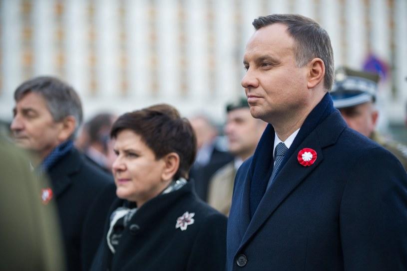 Premier Beata Szydło i prezydent Andrzej Duda /Bartosz Krupa /East News