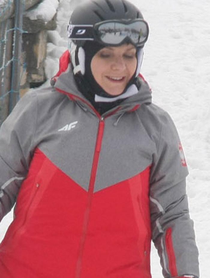 Premier Beata Szydlo na przemyskim stoku narciarskim /Kamil Krukiewicz/REPORTER /East News