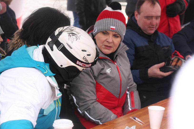 Premier Beata Szydło na przemyskim stoku narciarskim /Kamil Krukiewicz/REPORTER /East News