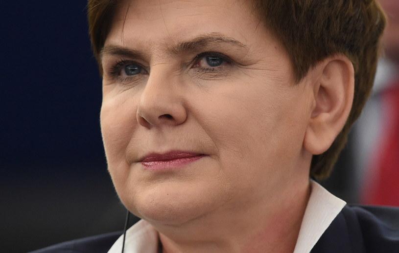 Premier Beata Szydło podczas debaty o sytuacji w Polsce /Radek Pietruszka /PAP