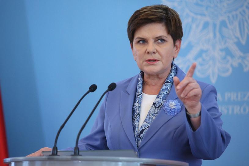 Premier Beata Szydło podczas konferencji prasowej /Rafał Guz /PAP